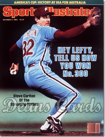 1983 Sports Illustrated - With Label   October 3  -  Steve Carlton (Philadelphia Phillies)