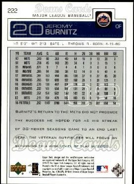 2003 Upper Deck #222  Jeromy Burnitz