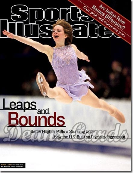 2002 Sports Illustrated - With Label   March 4  -  Sarah Hughes USA Figure Skating