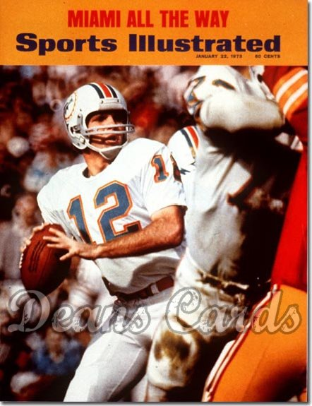 1973 Sports Illustrated - With Label   January 22  -  Bob Griese Super Bowl VII Dolphins