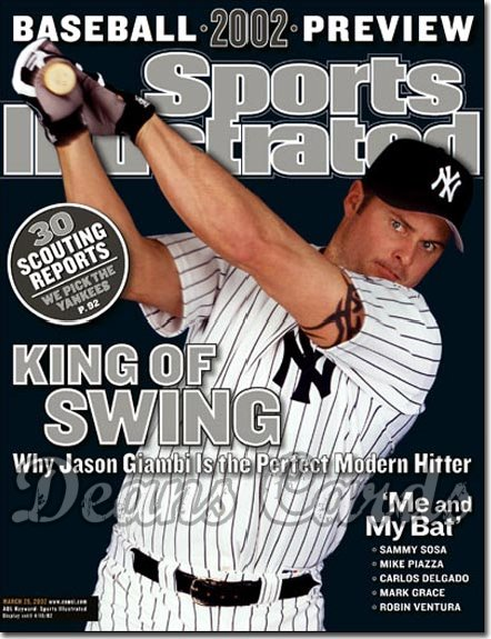 2002 Sports Illustrated - With Label   March 25  -  Jason Giambi NY Yankees