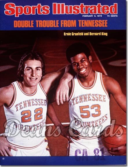 1976 Sports Illustrated - With Label   February 9  -  Bernard King/Ernie Grunfield (Tennessee Volunteers)