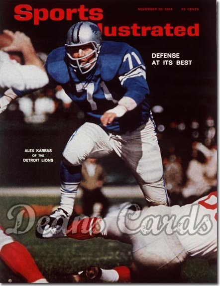 1964 Sports Illustrated - With Label   November 30  -  Alex Karras (Detroit Lions)