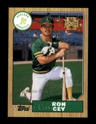 2001 Topps Archives #177   -  Ron Cey 87 Topps