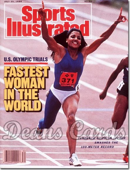 1988 Sports Illustrated - With Label   July 25  -  Florence Griffith