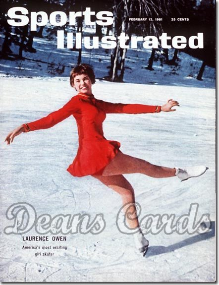 1961 Sports Illustrated - With Label   February 13  -  Laurence Owen Figure Skating