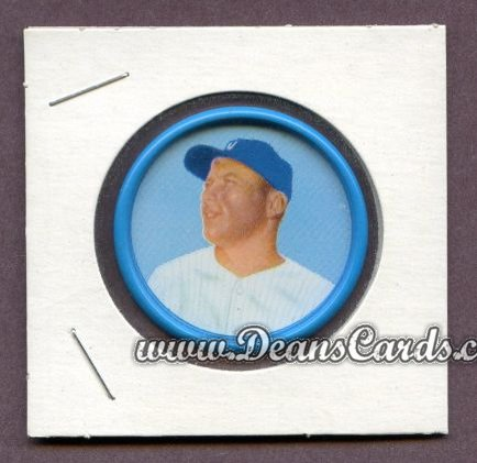 1963 Salada Metal Coins #56  Mickey Mantle