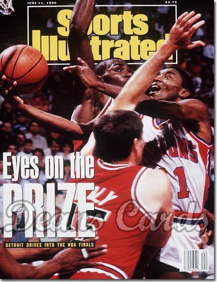 1990 Sports Illustrated - With Label   June 11  -  Isiah Thomas (Detroit Pistons)