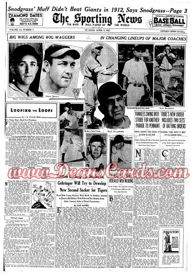 1942 The Sporting News   April 9  - 12 World Series reviewed