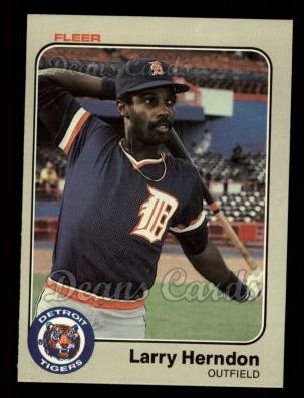 1983 Fleer #330  Larry Herndon