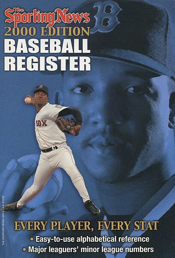 2000 Baseball Register   -  Pedro Martinez  Issue