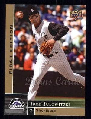 2009 Upper Deck First Edition #93  Troy Tulowitzki