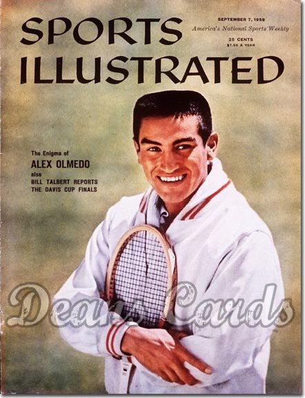 1959 Sports Illustrated - With Label   September 7  -  Alex Olmedo