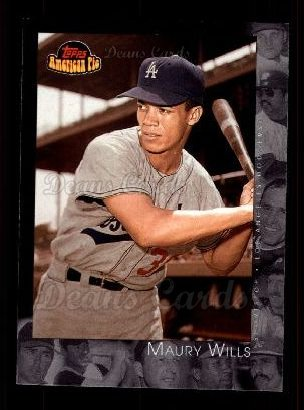 2001 Topps American Pie #58  Maury Wills