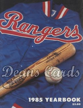 1985 Texas Rangers Yearbook - Pete O'Brien equipment