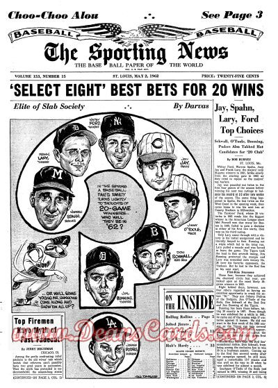 1962 The Sporting News   May 2  - Felipe & Matty Alou / Al Kaline