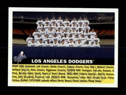 2005 Topps Heritage #166   Los Angeles Dodgers Team