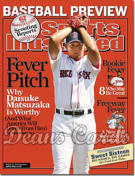 2007 Sports Illustrated   March 26  -  Daisuke Matsuzaka Boston Red Sox