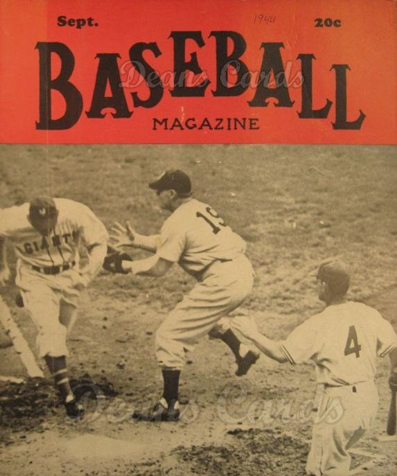 1944 Baseball Magazine    September