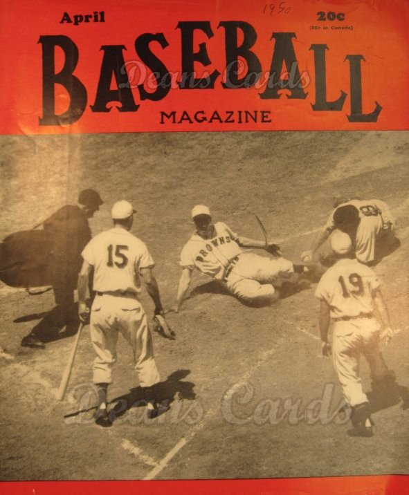 1950 Baseball Magazine    April