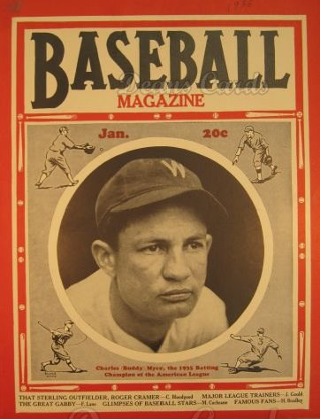1936 Baseball Magazine    January