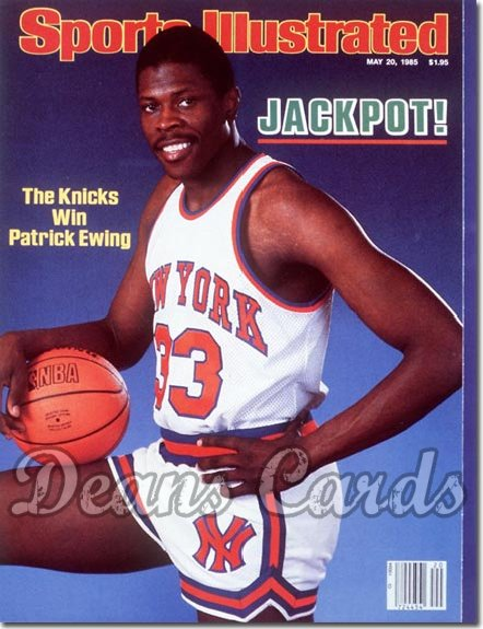 1985 Sports Illustrated - No Label   May 20  -  Patrick Ewing (New York Knicks)
