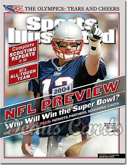 2004 Sports Illustrated - With Label   September 6  -  Tom Brady Patriots