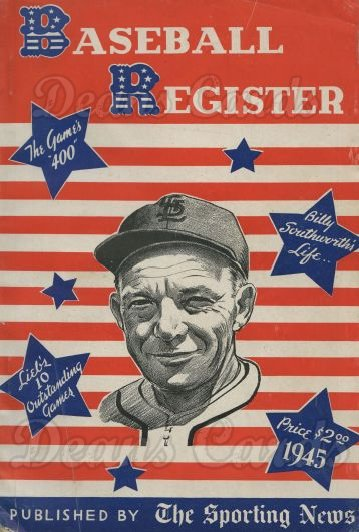 1945 Baseball Register   -   Billy Southworth   Issue