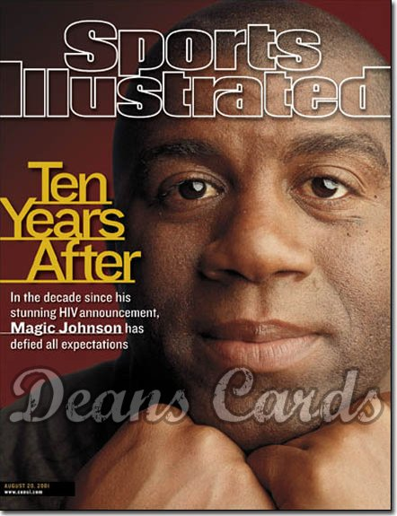2001 Sports Illustrated - With Label   August 20  -  Magic Johnson LA Lakers