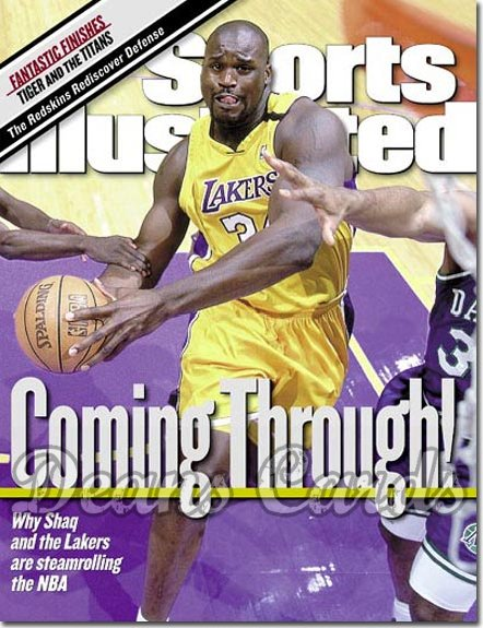 2000 Sports Illustrated - No Label   January 17  -  Shaquille ONeal LA Lakers
