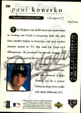 1998 Upper Deck #285  Paul Konerko
