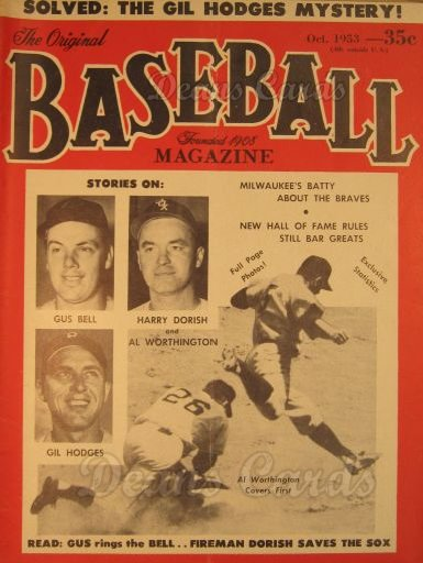 1953 Baseball Magazine    October