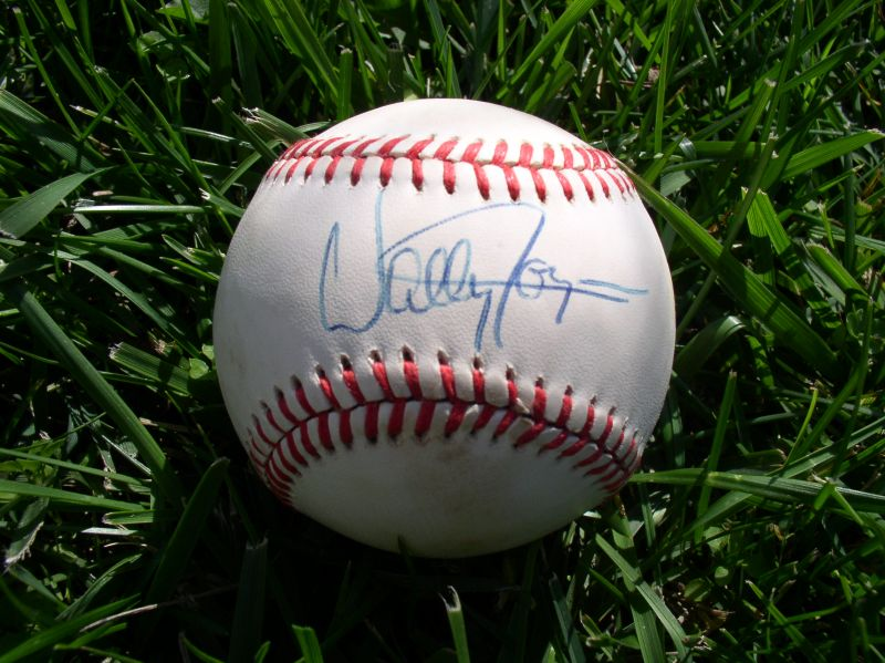 Wally Joyner A Autographed Ball