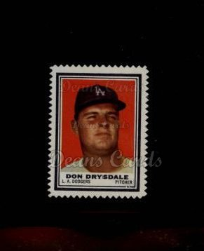 1962 Topps Stamps #133  Don Drysdale