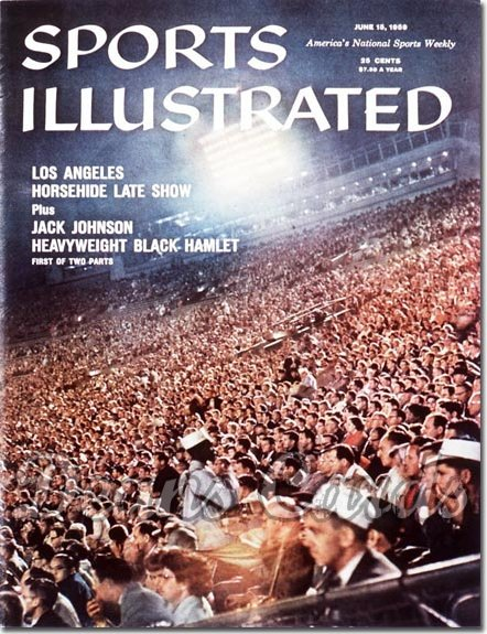 1959 Sports Illustrated - With Label   June 15  -  Dodger Stadium (Los Angeles Dodgers)