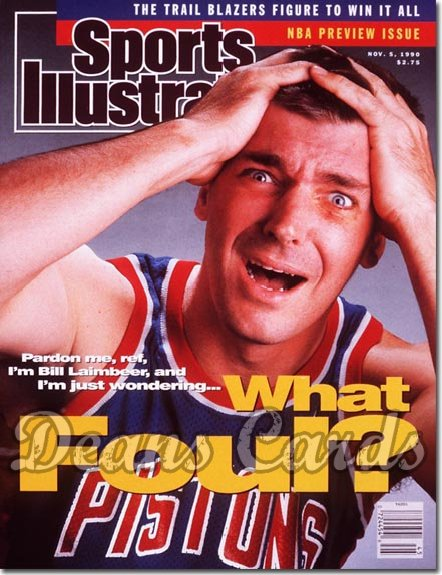 1990 Sports Illustrated - With Label   November 5  -  Bill Laimbeer (Detroit Pistons)