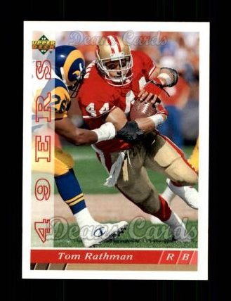 1993 Upper Deck #505  Tom Rathman
