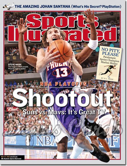 2005 Sports Illustrated - With Label   May 23  -  Steve Nash Phoenix Suns Vs Dallas Mavericks