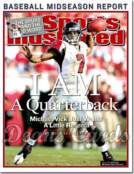 2005 Sports Illustrated   July 4  -  Michael Vick Atlanta Falcons