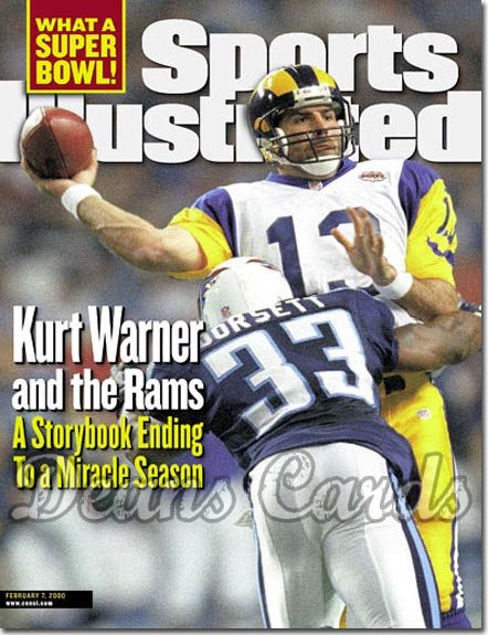 2000 Sports Illustrated   February 7  -  Kurt Warner (Rams) Anthony Dorsett (Titans)