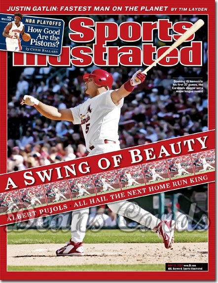 2006 Sports Illustrated   May 22  -  Albert Pujols St. Louis Cardinals #1