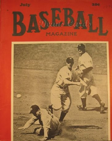 1938 Baseball Magazine    July