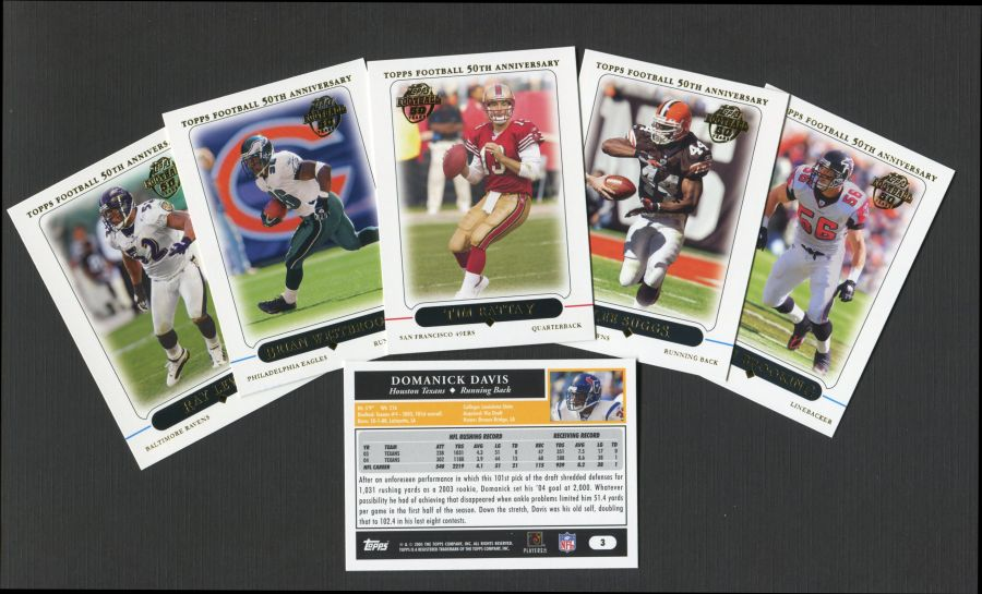 2005 Topps     Football Factory Sealed Complete Set