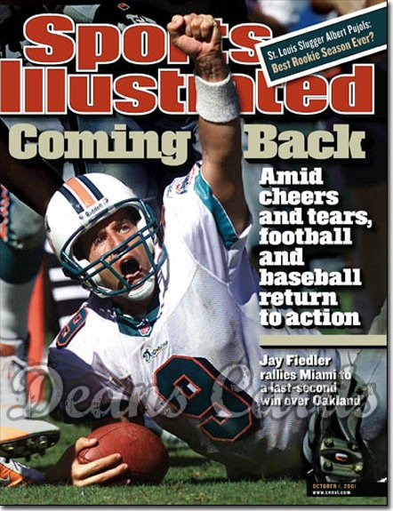 2001 Sports Illustrated   October 1  -  Jay Fiedler Miami Dolphins