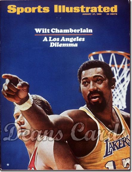1969 Sports Illustrated   January 27  -  Wilt Chamberlain (Los Angeles Lakers)