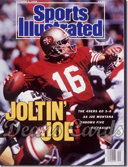 1989 Sports Illustrated - With Label   October 2  -  Joe Montana San Francisco 49ers