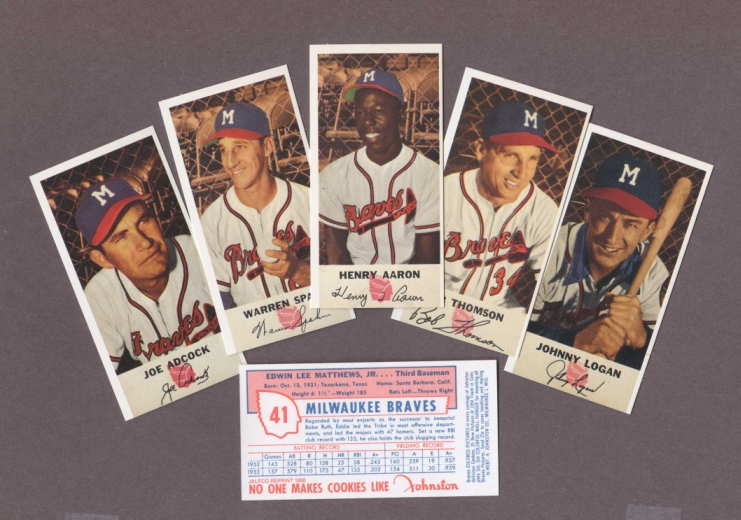 1954 Johnston Cookies Reprint    Braves  Complete Set