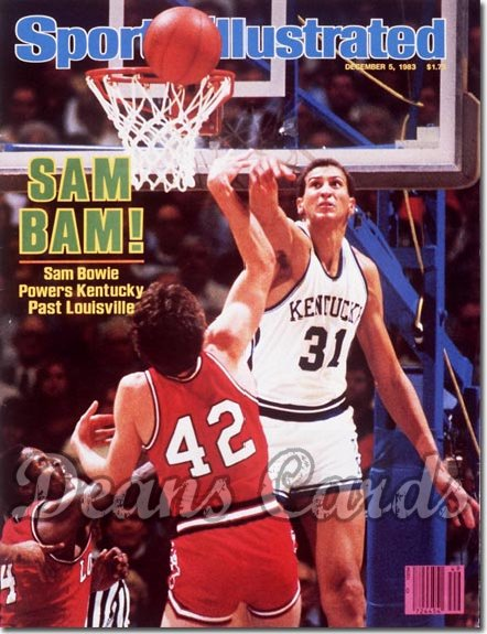 1983 Sports Illustrated - With Label   December 5  -  Sam Bowie (Kentucky Wildcats)
