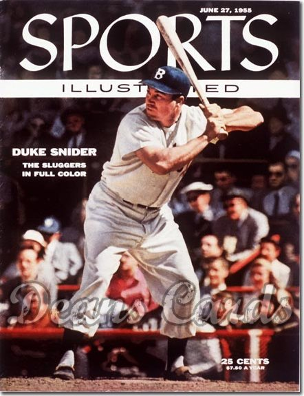 1955 Sports Illustrated   June 27  -  Duke Snider Brooklyn