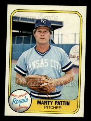 1981 Fleer #37  Marty Pattin